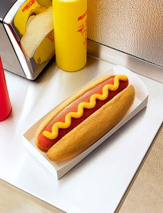 Woolly hotdog david sykes photography #illustration #design #knitting