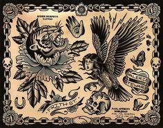 Paul Anthony Dobleman #dobleman #tattoo #flash #paul