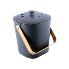 Minimalist Bamboo Composter The Minimalist Bamboo Composter is a small and compact bin composter that lets you convert organic waste into compost right at home! It is perfect to help enrich soil in your backyard. Made of biodegradable bamboo fiber, it's robust and durable.