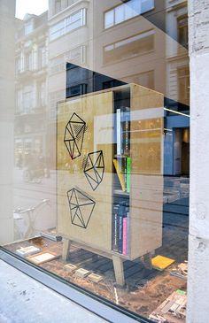 print cupboard - thankstothetree.be #cupboard #print #design #books #geometric #furniture