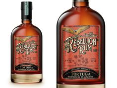 Rebellion Rum by Mike Clarke #logotype #lettering #branding #packaging #type #design #liquor #illustration #identity #logo #package #typography