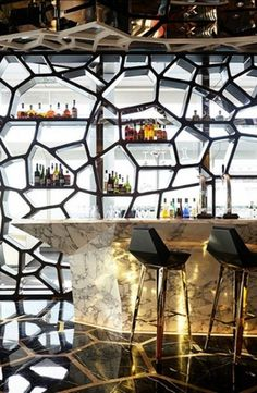 DeadFix » bardesign #display #bar #shops #honeycomb #cocktails