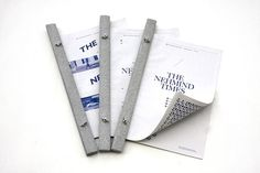 The Nehmind Times by Nicholas Loke, via Behance #binding