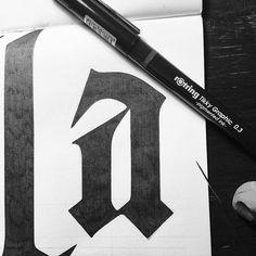 Letter design | a #lettering #typography #blackletter #type #design