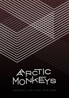 Arctic Monkeys #symmetry #design #poster