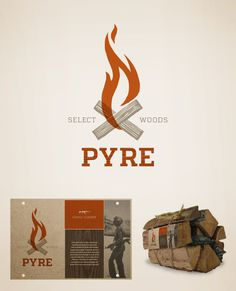 personal, logo, fire, wood, pyre, label, burn