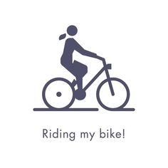Riding my bike by Sascha Elmers #icon #icondesign #symbol #minimal #sport #cycle #bicycle #picto