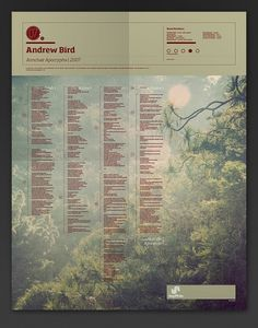 The Visual Mixtape on the Behance Network #poster #bird #map #andrew