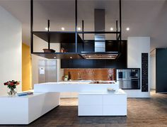 Loft ESN an Exceptional Transformation into Spacious Living Space rear row kitchen units