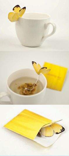 Butterfly Tea Bag #packaging #tea