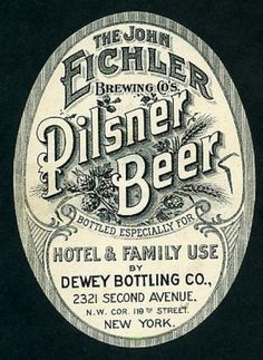 Typography / Vintage Beer Bottle Label