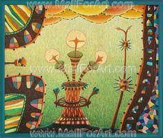 Ice cream fairy tale framed painting surrealism #drawings #surrealism #mazhlekov #painting #paintings #artist #viktor