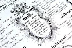 Resume- Skills #resume # lettering #typography