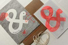Print In Cursive - LATELY... #letterpress #ampersand #announcement