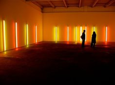 WE DARE SPEAK (A MOMENT ONLY): DAN FLAVIN #sculpture #fluorescent #lights #colour #light #flavin