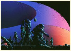 A strange little gang. By Kilian Eng #illustration #space #color #scifi