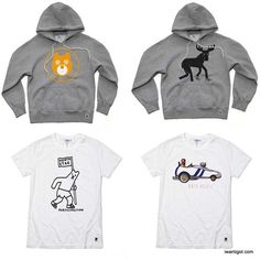 North Star x Geoff Mcfetridge Collection Hoodies and Tshirts #design