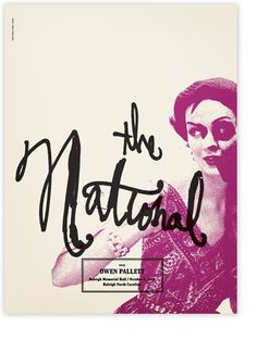 The National #art #typography #book cover