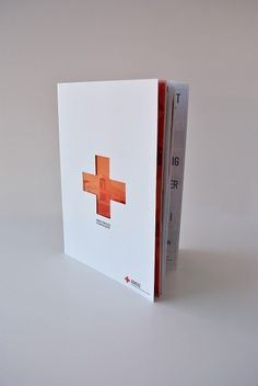 Mike Smith #design #brochure #die cut #red cross