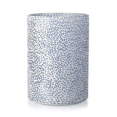 Candle Holder Mosaic Glass Blue 29.5cm x 21cm