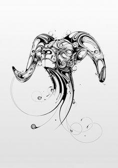 Resonate | Animal Series_01 on the Behance Network #illustration #ink #organic #ram
