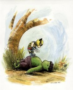 'The Avengers' Get The 'Winnie The Pooh' Treatment - DesignTAXI.com #hulk #pooh #wolverine #the #illustration #marvel #winnie
