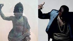 Left: Unknown; Right: Kanye West #kanye #mashup #west #art