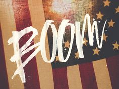 Boom - Mike Greenwell #handLettering #typography
