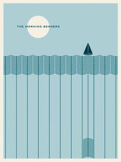 JasonMunn_TheMorningBenders_Poster.png (460×613) #pattern #modern #illustration #poster #typography