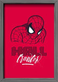 Oh, my hero! Superheroes Tribute on Behance #hero #illustration #lettering #superhero
