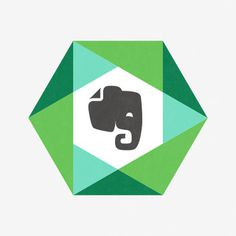 evernote, nate, luetkehans, tech, green, elephant, shape, abstract