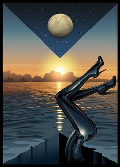 Sci-Fi-O-Rama / Science Fiction / Fantasy / Art / Design / Illustration #airbrushrealistic #goodall #illustration #jasper #art #fashion #psychedelic