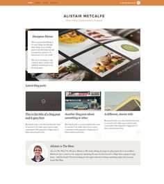 Al's Website.jpg #creative #homepage #food #website #message