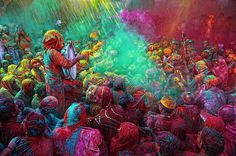 Holi Festival Celebrations in Mathura, India
