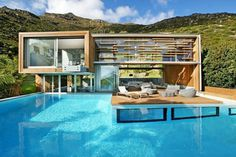 Spa House in Cape Town, South Africa by Metropolis Design #house #design #metropolis #pool #architecture #swimming