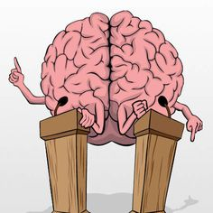 Brain Debate - Illustration by Zach Johnson