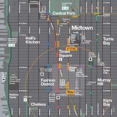 WalkNYC Hamish Smyth Design #signage #map #wayfinding