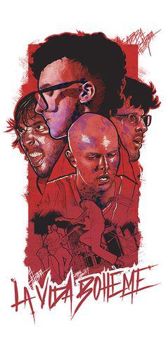 La Vida Bohème on Behance #rockro #print #art #poster #venezuela #typography