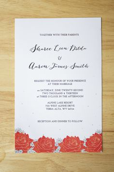 Wedding Invitation #invitation #print #weddinginvitation #printdesign #invites #wedding