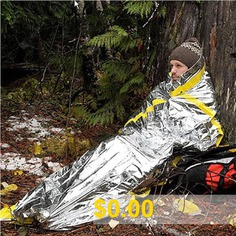 Outdoor #Life-saving #Survival #Emergency #Sleeping #Bag #Insulation #Tent #Emergency #Blanket #Portable #Warm #Cloth #Sunscreen #Pajamas #- #SILVER