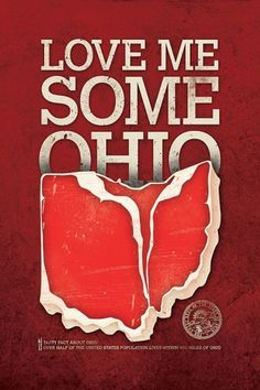 OHIO #steak #ohio #love #poster