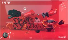 SPACE INVADERS #design #graphic #illustration #photoshop #character #3d #ecuador