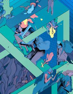 Illustration for issue 55 of Kiblind Magazine #illustration #drawing #artists on tumblr #rune fisker #bennybox