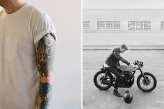Matt Edge Photography – Creative Series #cafe #motorcycle #tattoos
