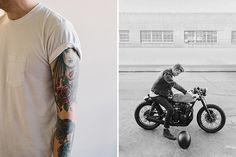 Matt Edge Photography – Creative Series #cafe #motorcycle #tattoos