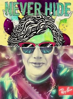 Ray-Ban Never Hide on the Behance Network #neon #80s #retro futurism