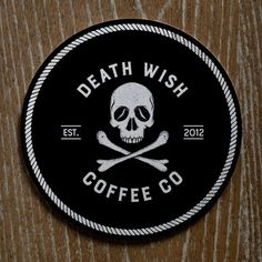 A coaster concept for Death Wish Coffee Co #coffee #packaging #branding #logodesign #coaster #death #wish #coffee