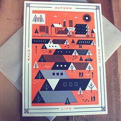 Enjoy Seasons Cards on Behance #autumn #fall