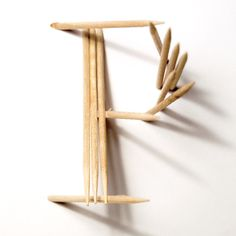 "CJWHO ™ (TYPICK Font by Jerome Haldemann ""I was given the...) #creative #font #design #toothpicks #art #clever #typography"