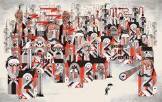 1984   The Graphic Canon 3   Lesley Barnes Illustration